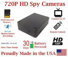 AES 30 Day Battery Powered 720P Black Box Mobile Wireless Spy Camera Nanny Cam