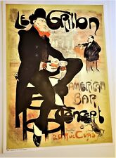 JACQUES VILLON Big ORIGINAL Stone LITHOGRAPH Le Grillon The Cricket American Bar