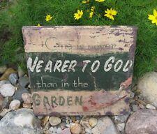 Canvas Garden*Christian Picture*Primitive/French Country/Urban Farmhouse Decor