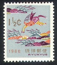 Ryukyus 1966 New Year/Horse/Animals/Greetings 1v n25920