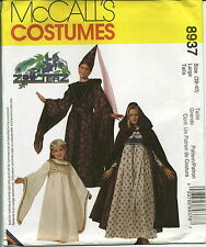 M 8937 sewing pattern MEDIEVAL Vest GOWN Hooded CAPE Cloak HAT sew Costume UNCUT