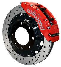 "WILWOOD DISC BRAKE KIT,FRONT,HUMMER H2,YUKON XL 2500,SUBURBAN 2500,16"",RED,DRILL"