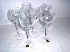 6 Bohemia Weißweingläser Kristall beschliffenes Weinreben Motiv Höhe 19 cm