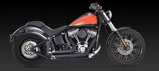 2012-2017 Harley Softail Negro Corto disparos de escape (Vance and Hines 47225)
