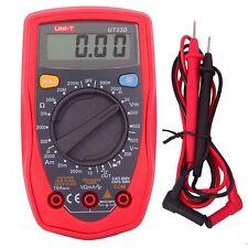 UNI-T UT33D Palm Size Digital Multimeter Handheld AC DC Volt Ohm Meter Tester