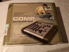 Soundcraft Compact 4 Kanal Mixer Mischpult 3-Band-EQ, 48V-Phantomspeisung