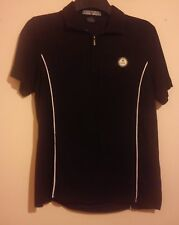 EMIRATES GOLF CLUB DUBAI WOVEN ZIP NECK POLO SHIRT BY KATE LORD SIZE S/M VGC
