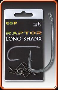 Esp Raptor Long-shank Hooks Barbed Size 9