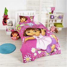 "NEW Licensed Dora the Explorer ""Sunshiny Day"" Single Bed Quilt/Doona Cover Set"
