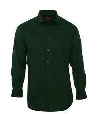 Alfani Spectrum Men's Slim-Fit Solid Dress Shirt Dark Green Size 16 16.5 32/33