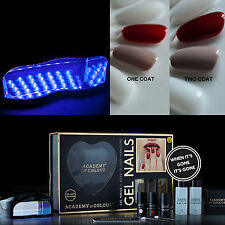 Academy of Colour Gel Nail Polish Manicure Complete DIY Starter Kit Set UV Lamp