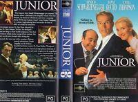 JUNIOR - Schwarzenegger - VHS - PAL - NEW - Never played! - Original Oz release