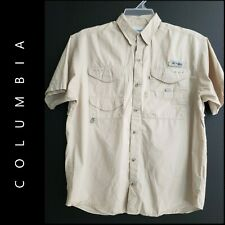 Columbia Men's Button Front PFG Casual Formal Shirt Vented Size Medium