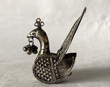 Vintage Silver Peacock Ornament (No Legs) - 20g