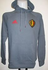 BELGIUM 2016/17 GREY HOODED SWEAT BY ADIDAS SIZE ADULT SMALL BRAND NEW WITH TAGS