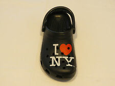 Amputee right shoe only Crocs I love New York roomy fit clog shoe M 4 W 6 unisex