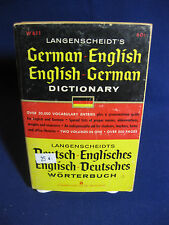 LANGENSCHEIDT'S GERMAN-ENGLISH DICTIONARY, 1966, 33RD PRINT, W611, GOOD SHAPE