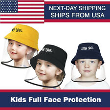 WERFORU Kids Baseball Cap Protective Hat with Removable Clear Visor Face Shield for Boys Girls Adjustable Isolation Cap UV Protection Cap Outdoor Anti-Dust Cap for 3-15 yo