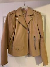 Fossil Leather Jacket Sand Color Size S