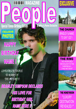 BRADLEY SIMPSON THE VAMPS Personalised Birthday'MAGAZINE STYLE' Card ANY NAME!!!