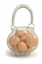 Garden Trading Wire Egg Basket Holder Stand Small Storage Kitchen Clay Colour