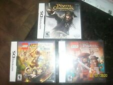 DS LEGO Pirates of the Caribbean ( 2011) NEW Sealed + Worlds End+ Indiana Jones