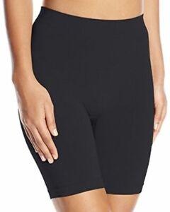 Vassarette Women's *2 Pack* Smoothing Slip Short 12674 Black Sable 5/S