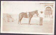 VINTAGE PHOTOGRAPH COWBOY HAT SOMBRERO VAQUERO RODEO CHARRO HORSE MEXICO PHOTO