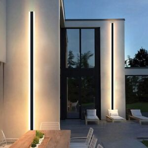 Modern Waterproof Outdoor Long Strip LED wall lamp Aluminum Light Garden Porch