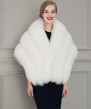 Upscale Womens Faux Mink Fur Shawl Shrug Weddings Wrap Cape Evening Bolero Coat
