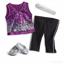 American Girl Gabriela's Sparkling Sequins Outfit New Headband Shoes Gloves NIB