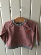 Baby Boy's Clothes Newborn - BNWOT Red Striped Rocket Motif Long Serve Top