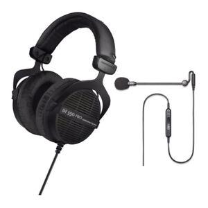 Beyerdynamic DT 990 PRO Studio Headphones - Ninja Black with ModMic Uni