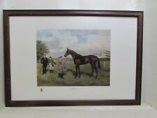 """Large Limited Edition Horse Racing Lithograph 200th Anniversary Derby """"Bahram"""""""