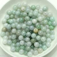 Pure 100% Natural Chinese Jade/Jadeite 7mm Loose Beads / 50 PCS(Wholesale)