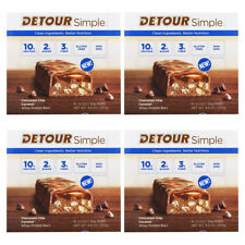 4X DETOUR SIMPLE WHEY PROTEIN BARS CHOCOLATE CHIP CARAMEL BETTER NUTRITION FOOD