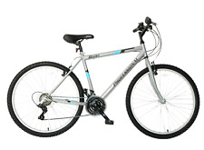 """Mens Mountain Bike Bicycle Boost 26"""" Wheel 19"""" Frame 21 Speed Silver Blue"""