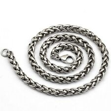 Necklace Chain Stainless Steel Silver 6MM Width 30 Inch Length Men Women
