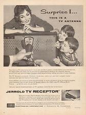 1959 vintage AD JERROLD TV RECEPTOR eliminate antennas , rabbit ears 071016