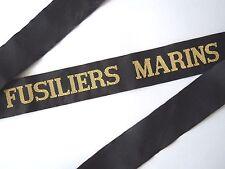 FUSILIERS MARINS Ruban légendé Marine France Cap Tally ORIGINAL idéal RFM RBFM