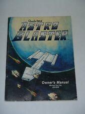 Astro Blaster Owners Manual W Foldout Schematics Sega Gremlin 1981 Arcade Video