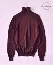 Authentic BURBERRY BNWD Turtle Neck Jumper/Sweater/Pullover Mens Medium Burgundy
