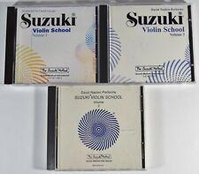 Suzuki Method Violin School - CDs Volume 1 2 3  David Cerone & David Nadien - CD