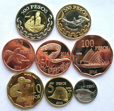 Easter Island 2014 Sealife Set of 8 Coins,UNC