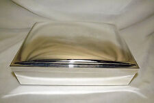 """Pottery Barn Large Silver-Plated Jewelry Box Monogrammed """"Sascha"""""""
