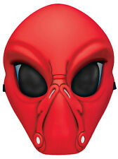 Fun World Red Alien Face Plastic Character Costume Mask
