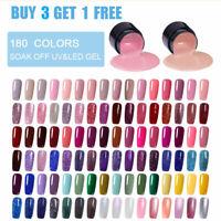 LEMOOC 5ml Nail Art Design Smalto Gel UV Soak Off Gel Polish UV LAMP 180 Colors