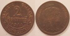 2 Centimes Dupuis 1911, SUP !!