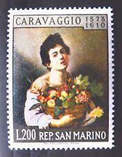 San MARINO 1960 CARAVAGGIO DIPINTO sg625 U/M fp9911