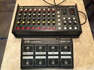 ETA Stage Lighting System 1234 controller with remote control 8 channel 4 scene